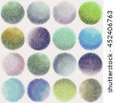 colorful pastel polka dot... | Shutterstock . vector #452406763