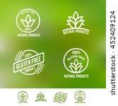 creative gluten free logo... | Shutterstock .eps vector #452409124