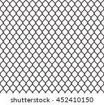 metallic wired fence seamless... | Shutterstock .eps vector #452410150
