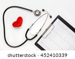 new stethoscope on a white... | Shutterstock . vector #452410339