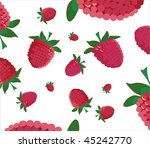 background with raspberry | Shutterstock .eps vector #45242770