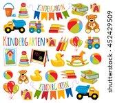 vector pattern for kindergarten ... | Shutterstock .eps vector #452429509