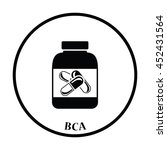 icon of fitness pills in... | Shutterstock .eps vector #452431564