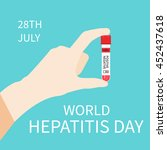 world hepatitis day awareness... | Shutterstock .eps vector #452437618