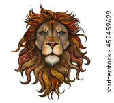 Stock vector vector color lion illustration 452459629