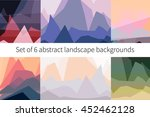 set of six abstract landscape... | Shutterstock .eps vector #452462128