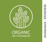 vector abstract organic emblem | Shutterstock .eps vector #452465656