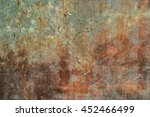 dark cracked rusty worn aged... | Shutterstock . vector #452466499