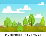 natural landscape. vector... | Shutterstock .eps vector #452474314