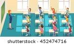 education  elementary school ... | Shutterstock .eps vector #452474716