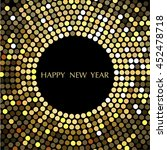 vector design happy new year.... | Shutterstock .eps vector #452478718