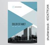 geometric business brochure ... | Shutterstock .eps vector #452479144