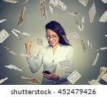 young woman using smart phone...   Shutterstock . vector #452479426