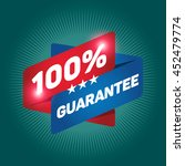 100  guarantee arrow tag sign... | Shutterstock .eps vector #452479774