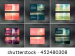 vector abstract brochure design ... | Shutterstock .eps vector #452480308