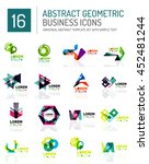 abstract geometric business... | Shutterstock . vector #452481244
