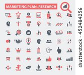 marketing plan  research icons   Shutterstock .eps vector #452484256