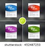vector flyer design templates... | Shutterstock .eps vector #452487253