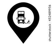 accessible bus vector. pin map...   Shutterstock .eps vector #452489956