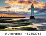 Perch Rock Lighthouse With Roc...