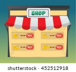 shop pop up game asset screen   ...