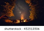 the fire at night | Shutterstock . vector #452513506