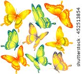 butterflies design | Shutterstock . vector #452513854
