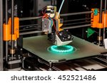 working 3d printer close up of... | Shutterstock . vector #452521486
