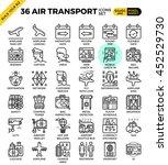 air transport   travel outline... | Shutterstock .eps vector #452529730