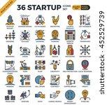 startup business pixel perfect... | Shutterstock .eps vector #452529739