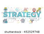 strategy word lettering... | Shutterstock .eps vector #452529748
