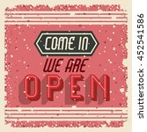 retro frame with message... | Shutterstock .eps vector #452541586