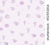 summer pattern background. fish ...   Shutterstock .eps vector #452551816