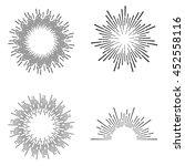 set of vintage sunburst | Shutterstock .eps vector #452558116