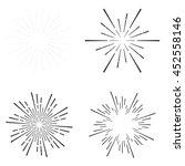 set of vintage sunburst | Shutterstock .eps vector #452558146