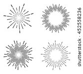 set of vintage sunburst | Shutterstock .eps vector #452558236