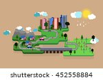 vector illustration of a green... | Shutterstock .eps vector #452558884