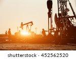 oil drilling exploration  the ... | Shutterstock . vector #452562520