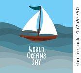 world ocean day design template.... | Shutterstock .eps vector #452562790