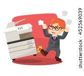 angry businessman kicking... | Shutterstock .eps vector #452569039
