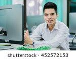 portrait of handsome young... | Shutterstock . vector #452572153