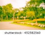 abstract blur city park bokeh... | Shutterstock . vector #452582560