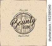 vintage handcrafted rum label ...   Shutterstock .eps vector #452589340