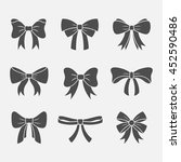 bows with ribbons vector set... | Shutterstock .eps vector #452590486