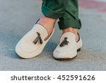 man's style  moccasins shoes... | Shutterstock . vector #452591626