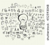 business doodles sketch vector... | Shutterstock .eps vector #452593048