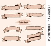 old ribbons set banners.... | Shutterstock .eps vector #452600584