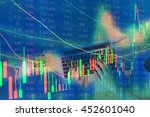 double exposure of stocks... | Shutterstock . vector #452601040