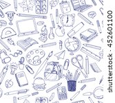 colorful school  pattern....   Shutterstock .eps vector #452601100