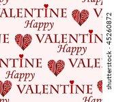 valentine vector seamless... | Shutterstock .eps vector #45260872